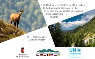 Conference of the Parties to the Carpathian Convention, Fifth Meeting on 10th-12th October 2017